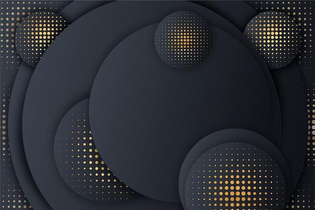 Zwart papier gesneden modellen achtergrond