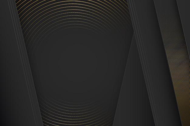 Zwart papier gesneden vormen achtergrond met halftoon effect