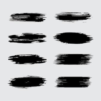 Zwart penseelstreekelement