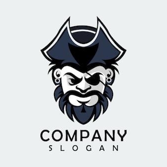 Zwart piraatlogo