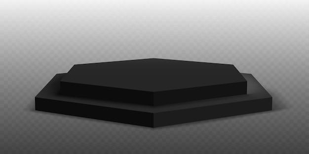 Zwart podium. sokkelplatform of showroomstandaard. zwart studio podiumplatform