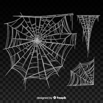 Zwart realistisch spinneweb met gradiënt