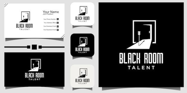 Zwart talent prestatie logo ontwerp