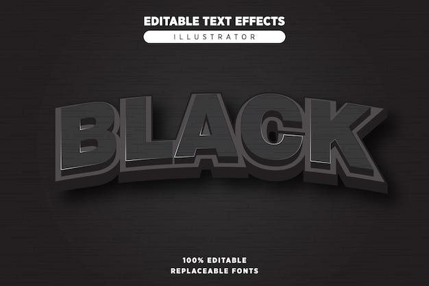 Zwart teksteffect bewerkbaar