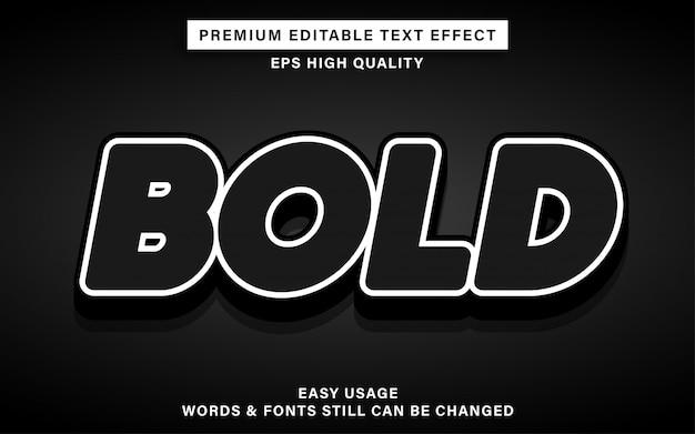 Zwart vetgedrukt teksteffect