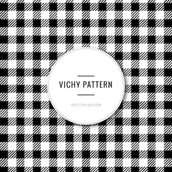 Zwart vichy patroon