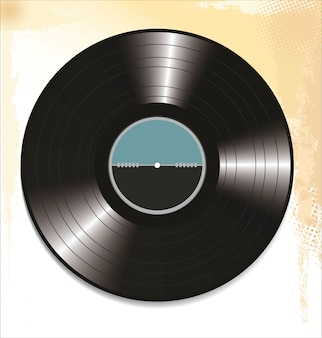 Zwart vinyl record