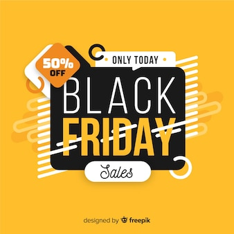 Zwart vrijdag concept met alleen vandaag verkoop