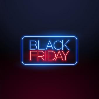 Zwart vrijdag neonlicht