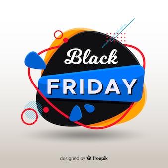 Zwart vrijdagconcept met vlakke ontwerpachtergrond