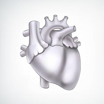 Zwart-wit 3d hart