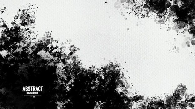 Zwart-wit abstracte grunge verf textuur achtergrond