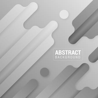 Zwart-wit abstracte rechthoeken en cirkels vector achtergrond