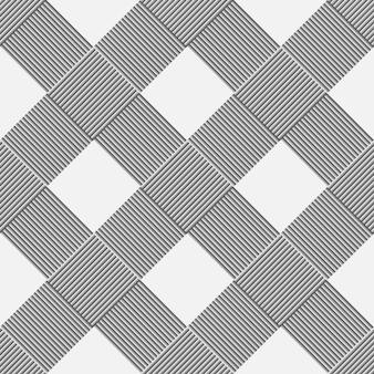 Zwart-wit achtergrond van diagonaal patroonmandewerk