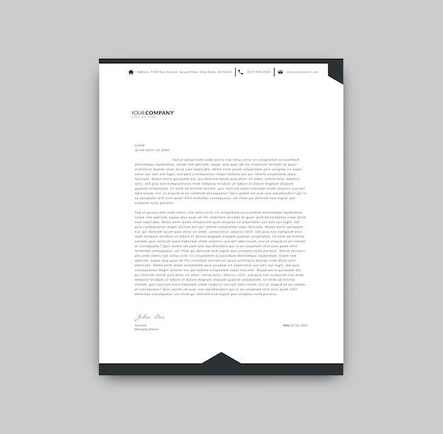 Zwart-wit briefpapier
