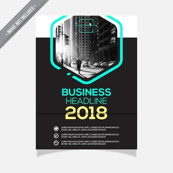 Zwart-wit business brochure