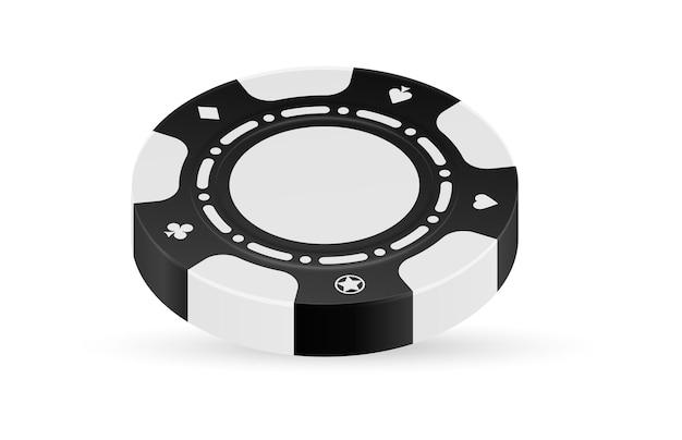 Zwart-wit chip geïsoleerd op lichte achtergrond