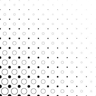 Zwart-wit cirkel patroon - abstracte vector achtergrond