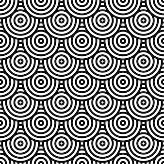 Zwart-wit cirkelpatroon voor achtergrond