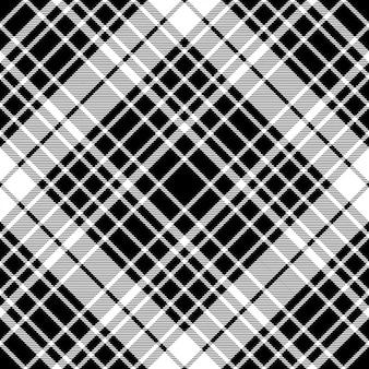 Zwart-wit diagonaal geruit naadloos patroon