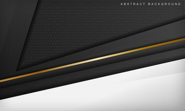 Zwart-wit diagonale luxe achtergrond met gouden element