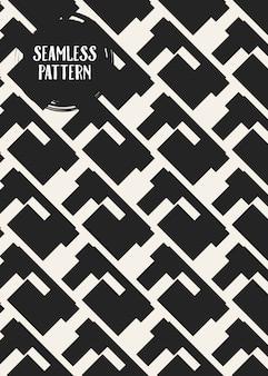 Zwart-wit geometrisch naadloos patroon.