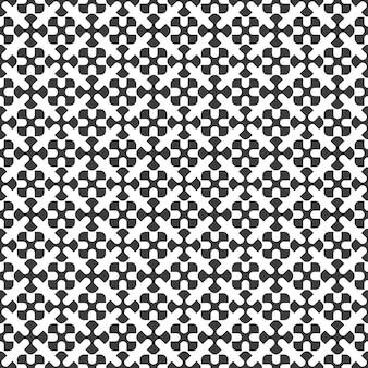 Zwart-wit geometrisch naadloos patroon