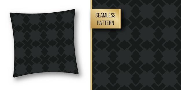 Zwart-wit geometrische naadloze patroonreeks.
