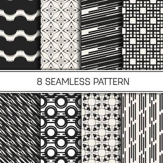 Zwart-wit geometrische naadloze patroonreeks