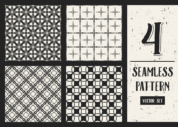 Zwart-wit geometrische patroonreeks.