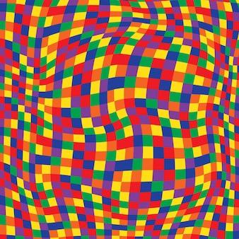 Zwart-wit hypnotische achtergrond naadloze patroon.