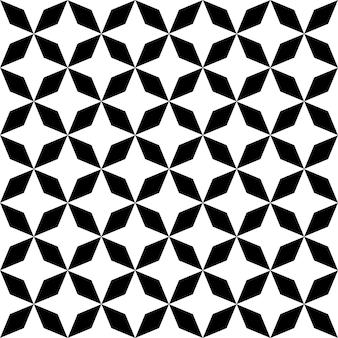 Zwart-wit hypnotische achtergrond. vector illustratie
