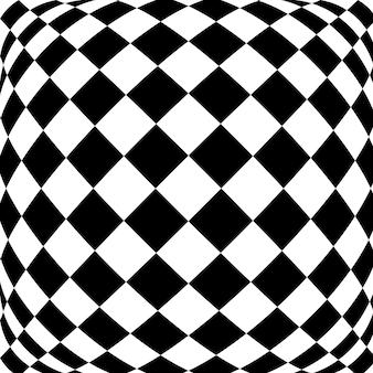 Zwart-wit hypnotische achtergrond.