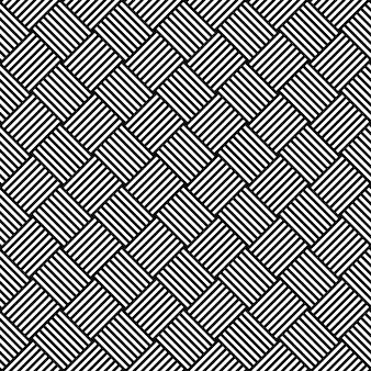 Zwart-wit hypnotische naadloze achtergrondpatroon. illustratie