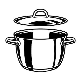 Zwart-wit keukenpan
