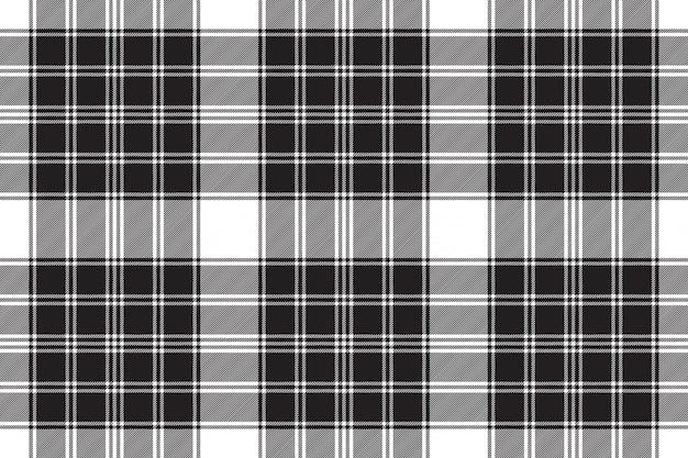 Zwart wit klassiek geruit naadloos patroon