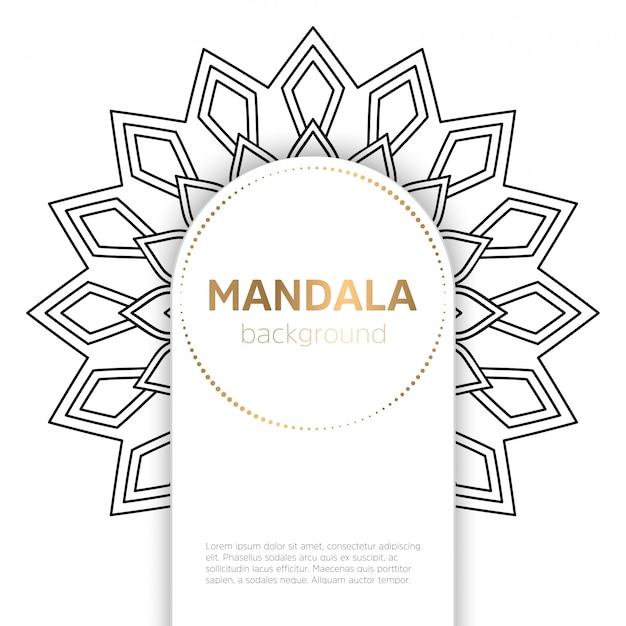 Zwart-wit mandala sjabloon achtergrond