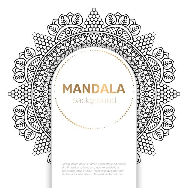 Zwart-wit mandala-sjabloon
