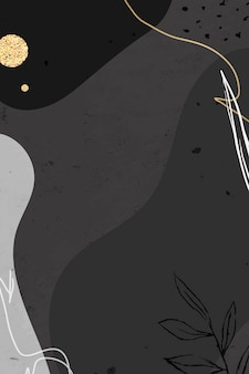 Zwart-wit memphis patroon achtergrond