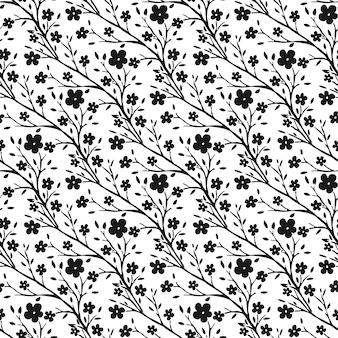 Zwart-wit naadloos patroon voor stof of verpakkingsontwerp