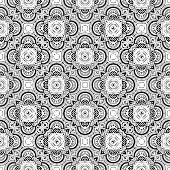 Zwart-wit naadloos patroon