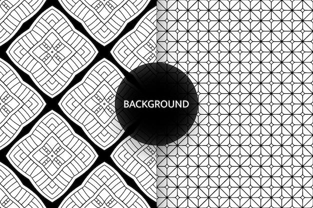 Zwart-wit naadloze patronen achtergrond