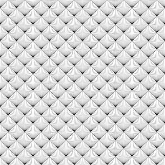 Zwart wit naadloze patroon met vintage
