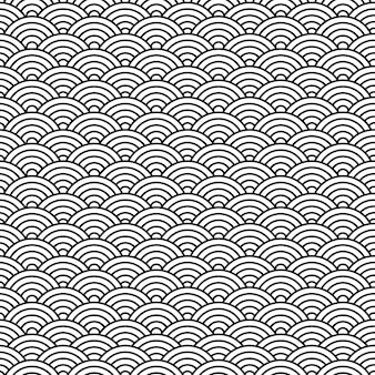 Zwart-wit oosters chinees naadloos patroon.