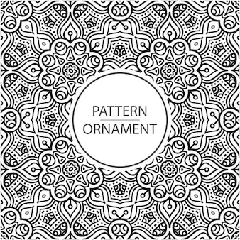 Zwart-wit ornament patroon