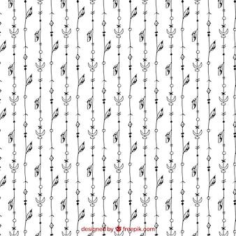 Zwart-wit patroon boho