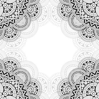 Zwart-wit sierpatroon.