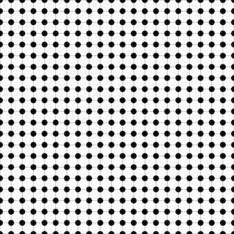 Zwart-wit stip naadloos patroon op raster vectorillustratie monochrome textuur