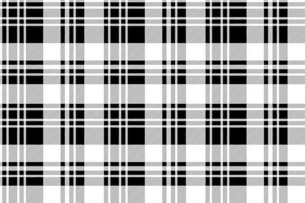 Zwart-wit stof textuur selectievakje naadloze patroon