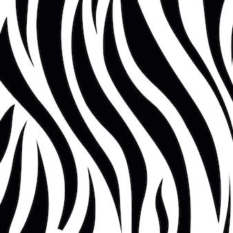 Zwart-wit strepenpatroon van zebrahuid